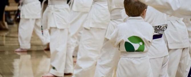Martial arts children in uniforms