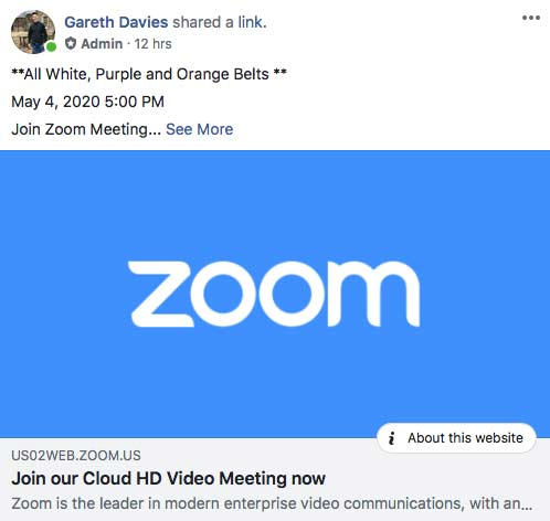 5pm Zoom Class